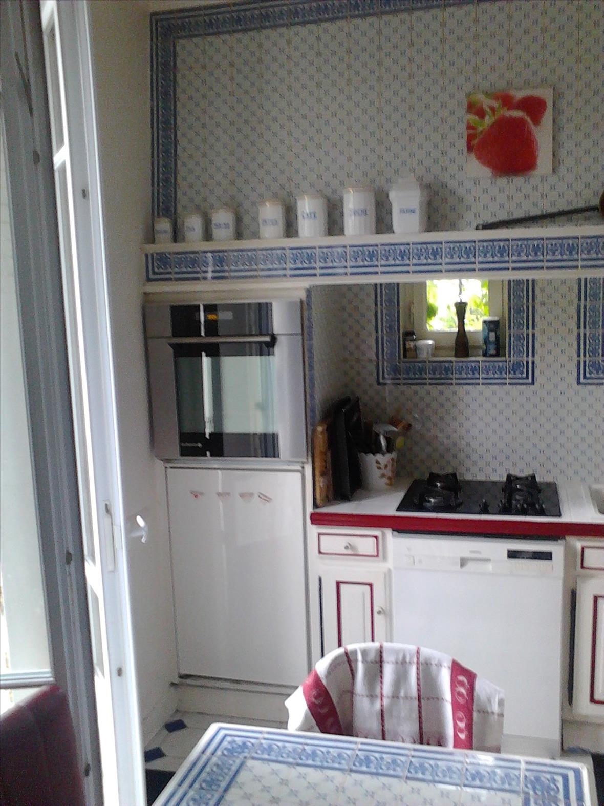 Gesloten industriële zwarte en grijze houten keuken  6