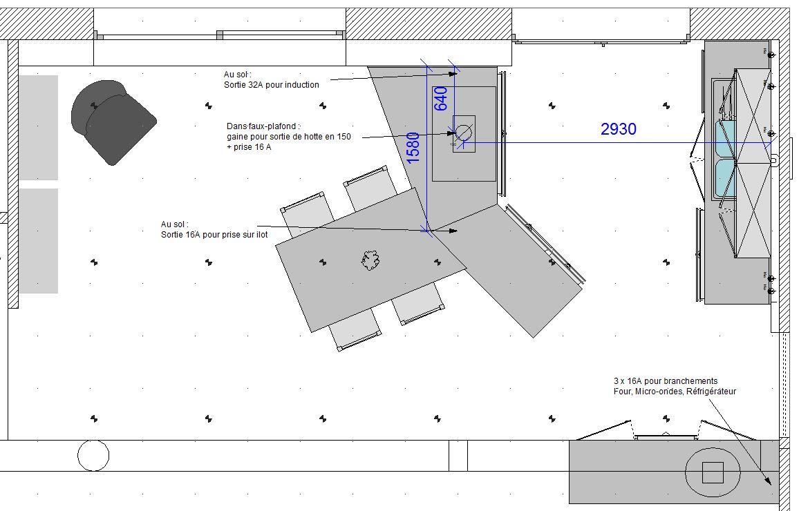 Open moderne zwarte keuken in L-vorm  6
