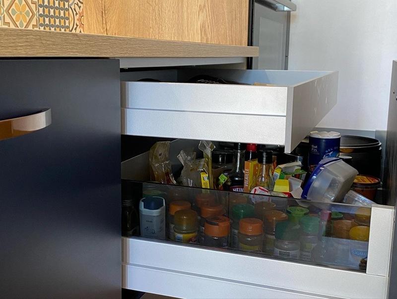 Open moderne blauwe keuken 4