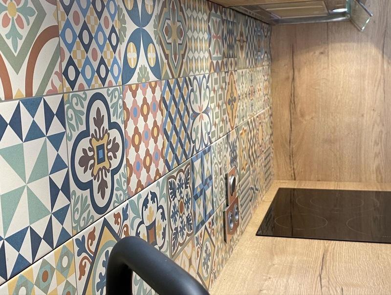 Open moderne blauwe keuken 5