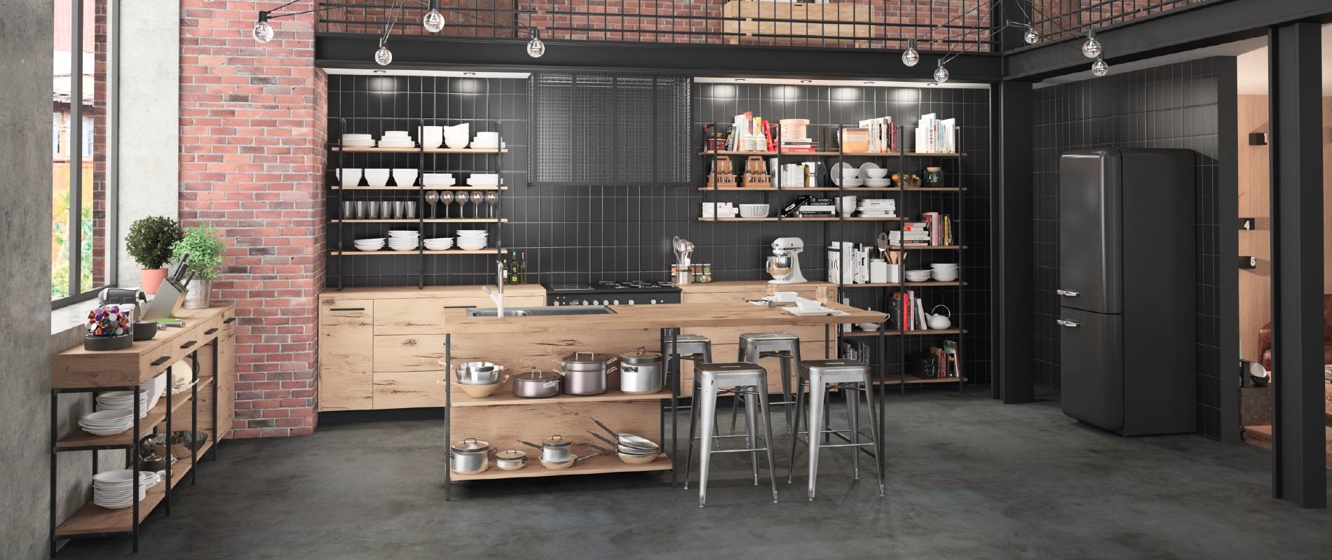 cuisine-style-industriel-metal-bois-brique-raison-home