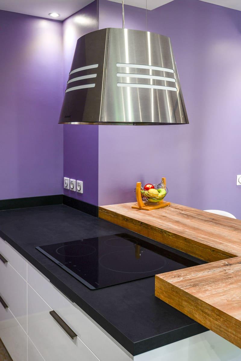 Cuisine contemporaine blanche et violet par Pascal LAURENCE - 10