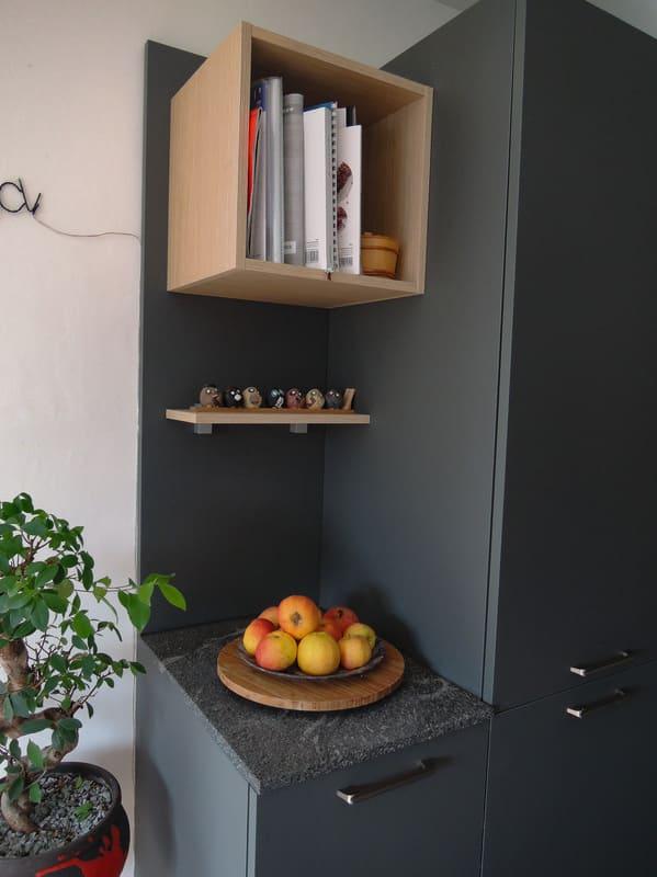 Cuisine grise en Fenix et marbre par Sandrine CHARAT | Raison Home - 7